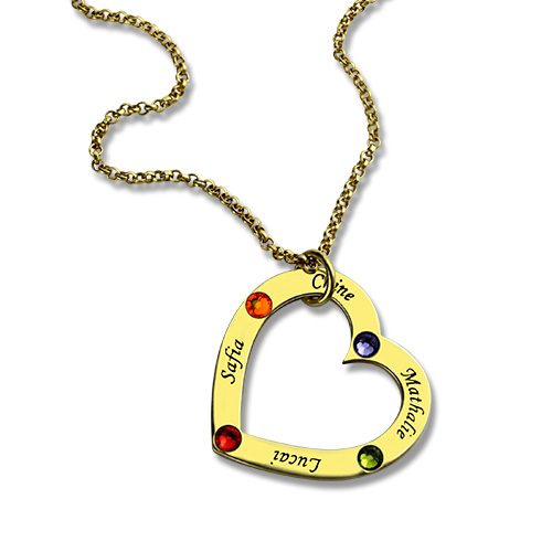 Birthstone Heart Necklace